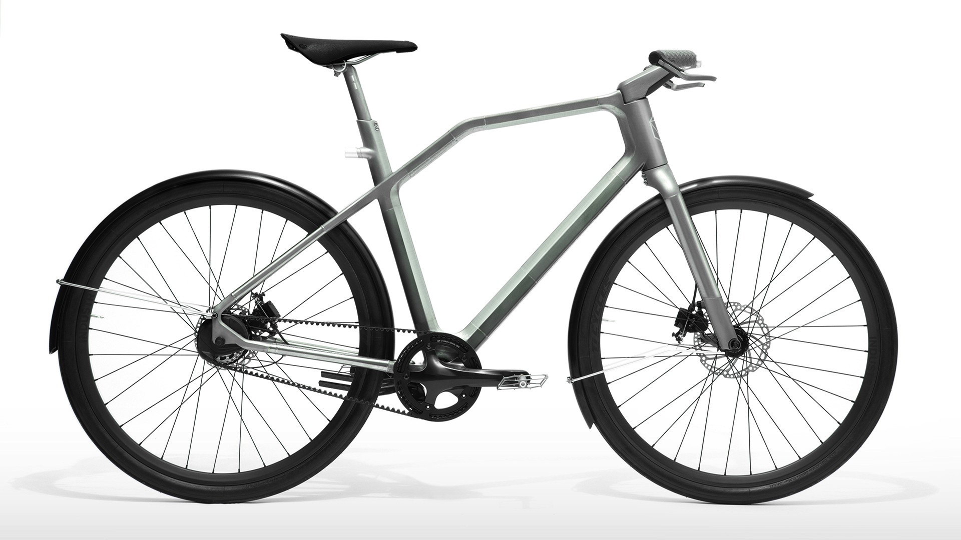 3D PRINTED URBAN ROAD BIKE MADE OF TITANIUM WITH HAPTIC HANDLEBAR TECHNOLOGY AND BLUETOOTH CONNECTIVITY