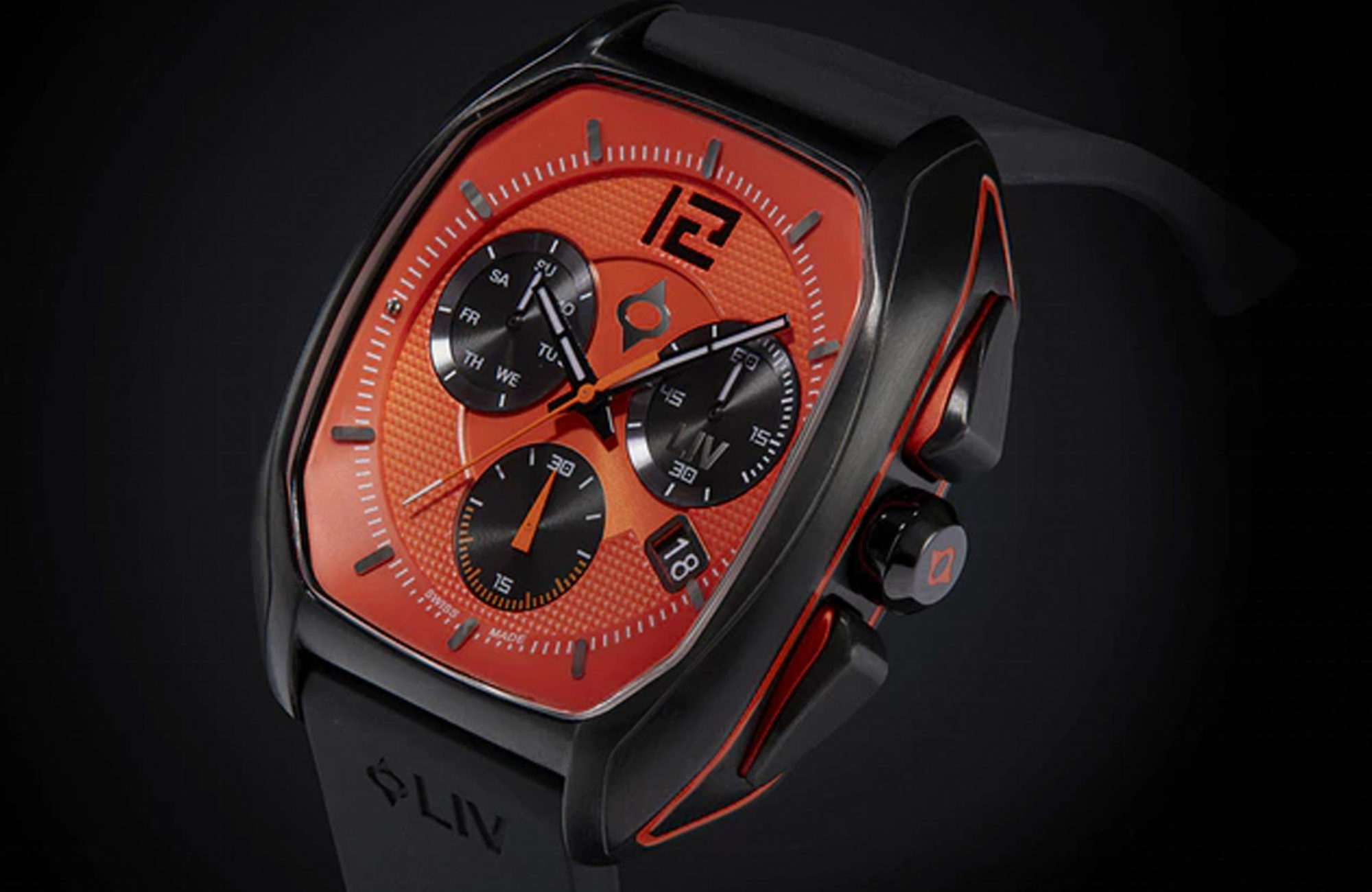 LIV REBEL SWISS WATCH HIGH QUALITY SELF WINDING WITH SAPPHIRE FACE