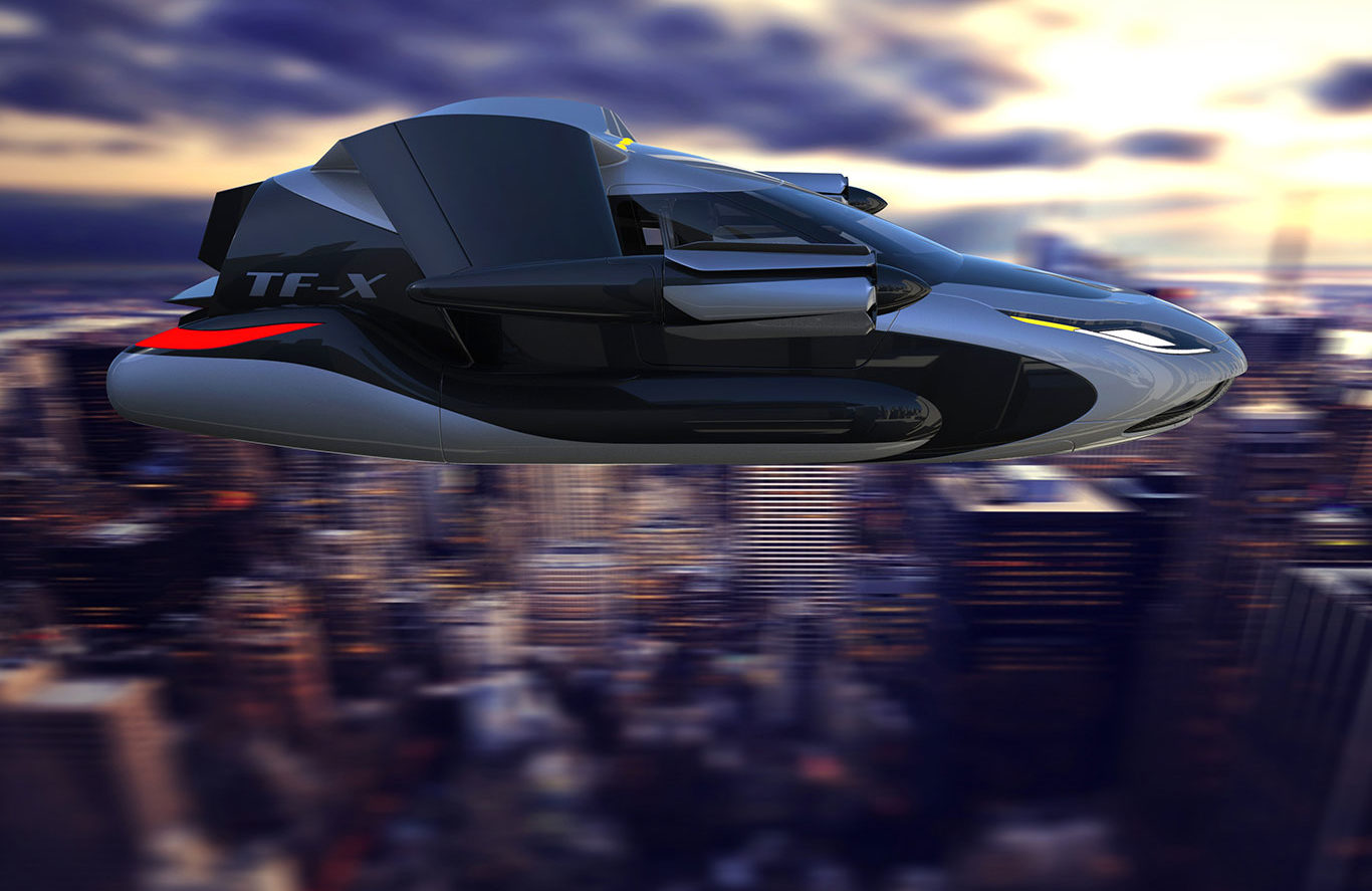 TF-X FLYING CAR GOOGLE AND UBER RIVAL FUTURE TRANSPORT